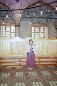 Barb in proper mosque attire