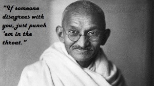 gandhi fake quote