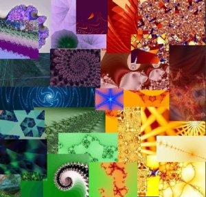 Fractal Collage--Rainbow Star
