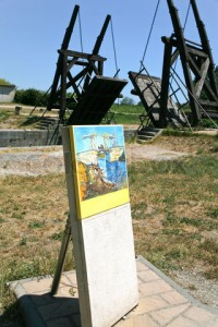 "copy of Van Gogh picture and copy ""Langlois Bridge"""