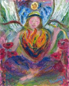 Inner Flames Inner Beauty by ClareMaria Vrindaji Bowman at fineartamerica.com