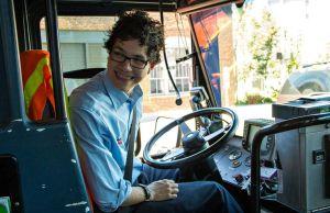 Nathan on his bus. {Image credit: pinterest.com]