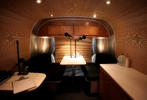 The StoryCorps booth. An  exciting and historic place to be.