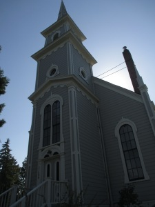 Port Gamble's perfect little church.