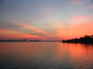 The Ortega River as it heads out to the St. Johns River at dawn. Most likely the last thing my fisherman friend ever saw.