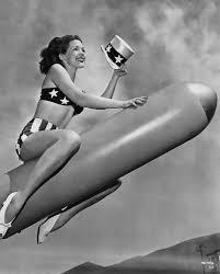 riding a rocket