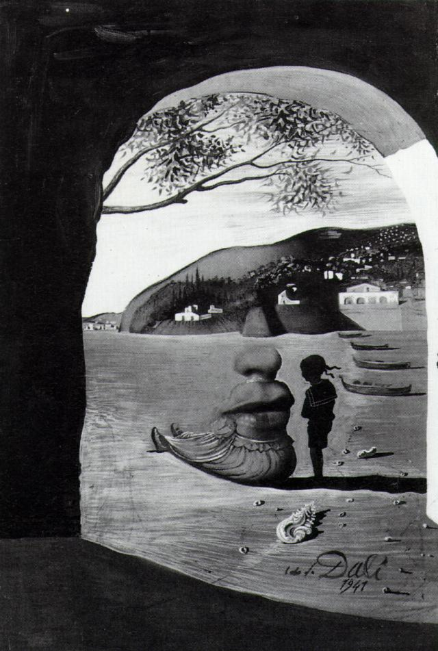19 Salvador Dali Mysterious Mouth Appearing in the Back of My Nurse, 1941