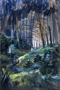 Deep Woods, 1936 oil on paper 89.6 x 59.6 cm The Art Gallery of Greater Victoria, Gift of Flora Hamilton Burns and Patricia Keir in memory of their parents, Mr. and Mrs. Gavin Hamilton Burns 1994.055.005