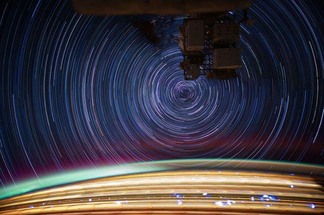 International Space Station Star Trails
