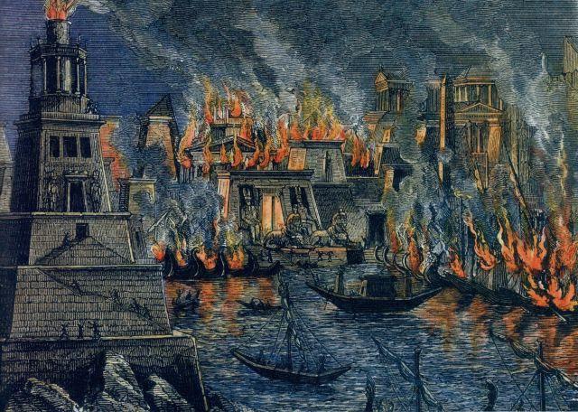 Incendie_Alexandrie_by_Hermann_Goll_1876