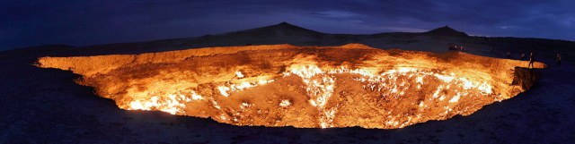 Darvaza Crater in Turkmenistan