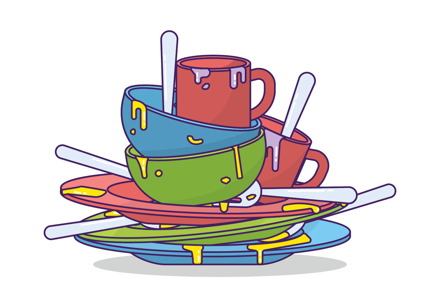 dirty-dishes-vector