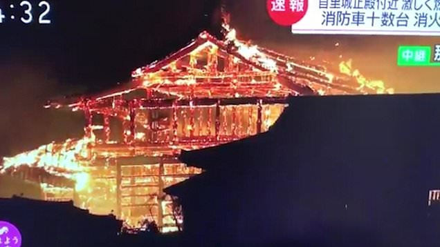 Shuri Castle Burning