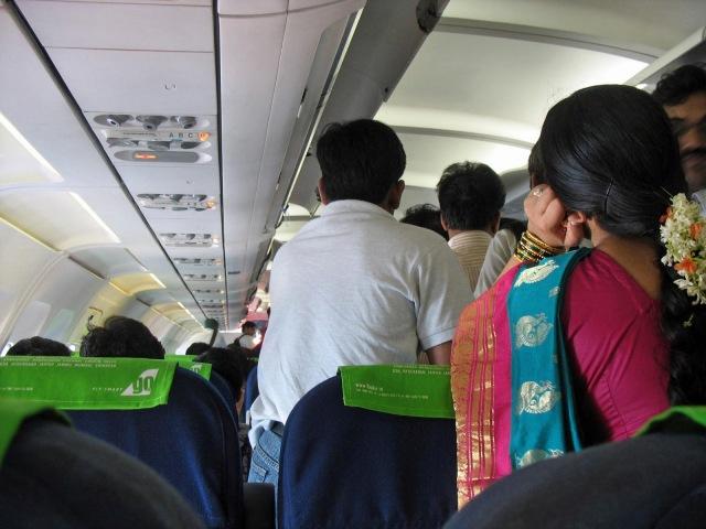 Cramped plane