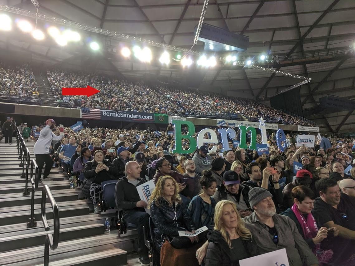 Me at Bernie Rally