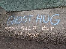 220px-Ghost_Hug_chalk_writing_on_Hawthorne_during_Coronavirus_pandemic
