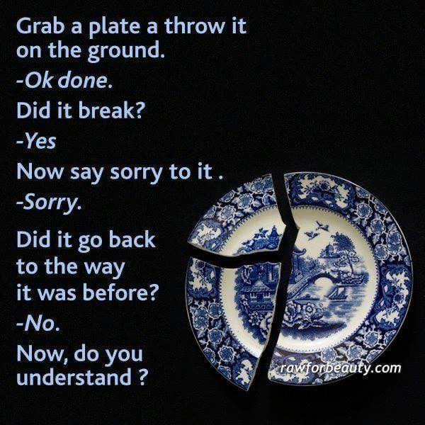 You are not a plate